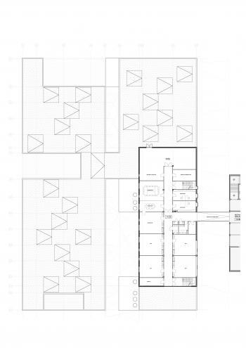 SBSO 'Baken' en MPIGO 'Zonneken' Sint-Niklaas plan verdieping (vergrote weergave in fotogalerij)