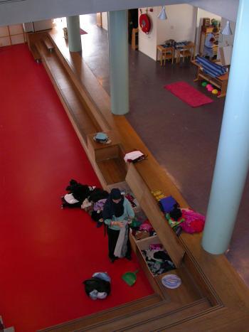 Monetessori School 'De Eilanden' Amsterdam doorzichten (vergrote weergave in fotogalerij)