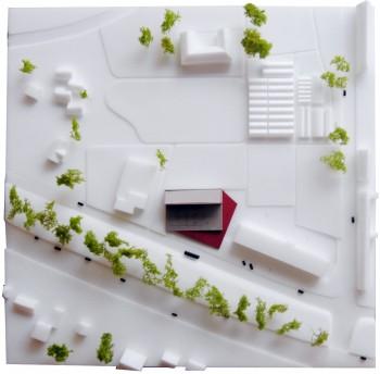 De Wijnpers - maquette inplanting (vergrote weergave in fotogalerij)