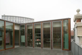 Sint-Joost-aan-Zee buitenpatio dakverdieping (vergrote weergave in fotogalerij)