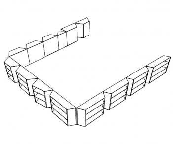 Kunstproject BS 'Sint-Ursula' Laken Ontwerp schets opstelling  (vergrote weergave in fotogalerij)