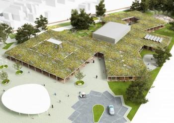 Campus Knokke - overzicht perspectief (vergrote weergave in fotogalerij)
