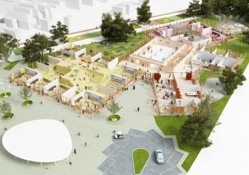 Campus Knokke - overzicht perspectief overzicht perspectief (vergrote weergave in fotogalerij)