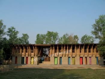 METIschool Rudrapur voorgevel (vergrote weergave in fotogalerij)