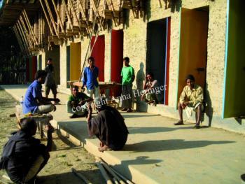METIschool Rudrapur bouwteam (vergrote weergave in fotogalerij)