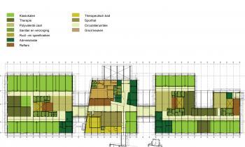 Sint-Gerardusinstituut Diepenbeek grondplan (vergrote weergave in fotogalerij)
