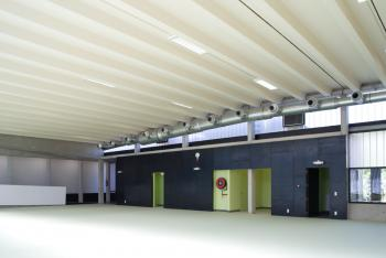 BS Dender Geraardsbergen interieur polyvalente zaal (vergrote weergave in fotogalerij)