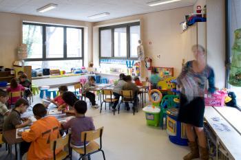 BS Sint-Ursula Laken klaslokaal (vergrote weergave in fotogalerij)