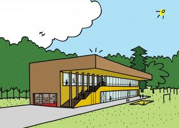 Basisschool Zonnekind 3D-aanzicht (vergrote weergave in fotogalerij)